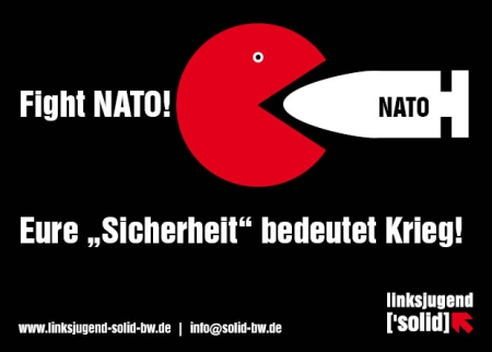 Fightnato-Plakat der Linksjugend