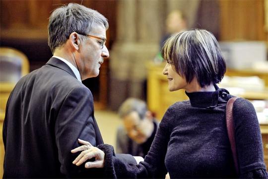 Urs Schwaller mit Micheline Calmy-Rey