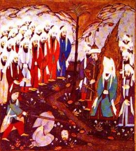 Mohammed bei Hinrichtung