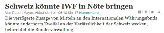 Schweiz IWF