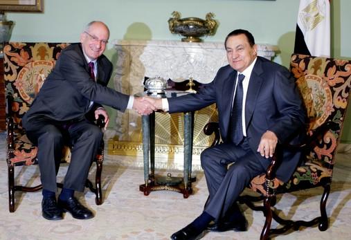 Couchepin und Mubarak