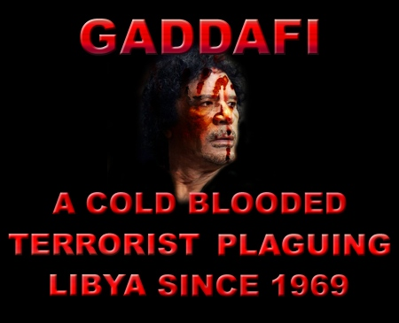 Gaddafi is a criminal and a terrorist
