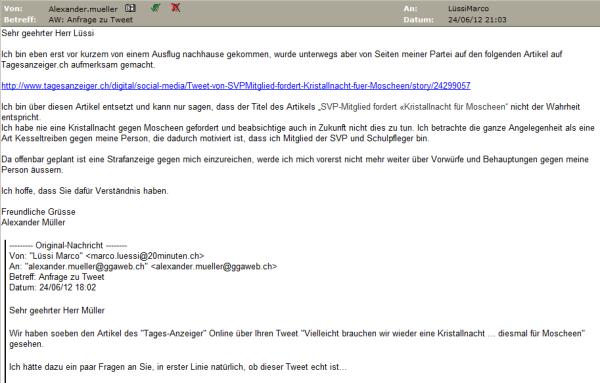 E-Mail nach dem ersten Datum