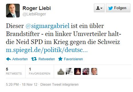 Roger Liebi Brandstifter