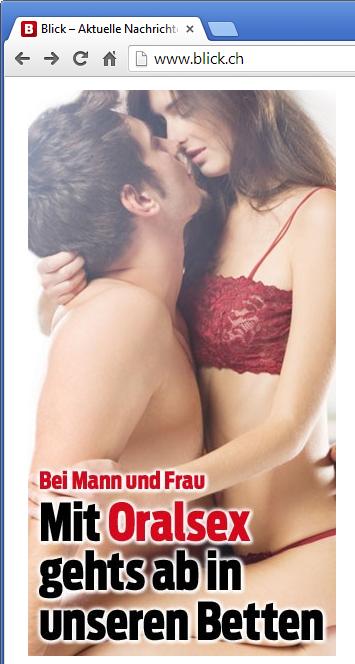 Blick zeigt täglich nackte Tatsachen und berichtet regelmässig über Sex.