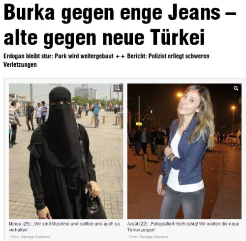 Burka gegen Jeans
