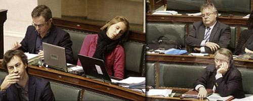 Gesundheitsschlaf im Parlament
