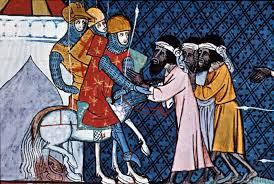 Bartlose Kreuzritter und bärtige Muslime
