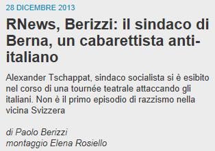 Übersetzung: Der sozialistische Bürgermeister Alexander Tschäppät hat während einer Theatertournée Italiener angegriffen . Es ist nicht der erste Vorfall von Rassismus in der benachbarten Schweiz.