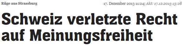 Meinungsfreiheit-Schweiz