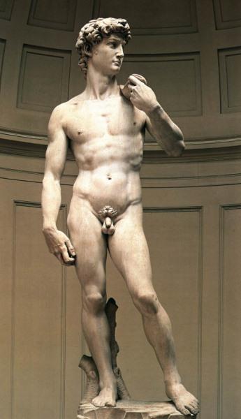 David von Michelangelo, geschaffen in den Jahren 1501-1504