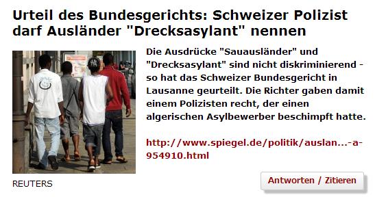 """Im Forum des deutschen Nachrichtenmagazins """"Der Spiegel"""" wird blanker Unsinn diskutiert."""