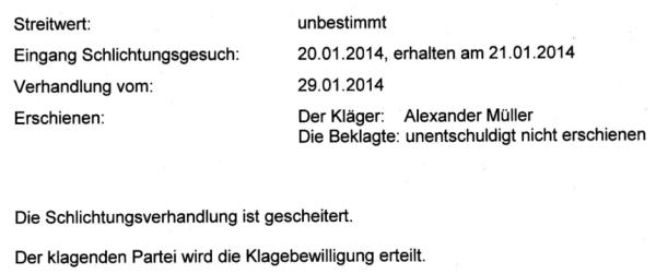 Ein mächtiger Schweizer Medienkonzern drückt sich vor seiner Verantwortung indem er unentschuldigt der Schlichtungsverhandlung fern bleibt.