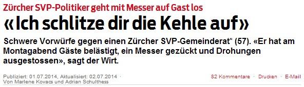 Quelle: Blick.ch vom 1. Juli 2014