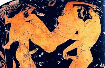 Solche Darstellungen waren in der Antike keine Seltenheit.