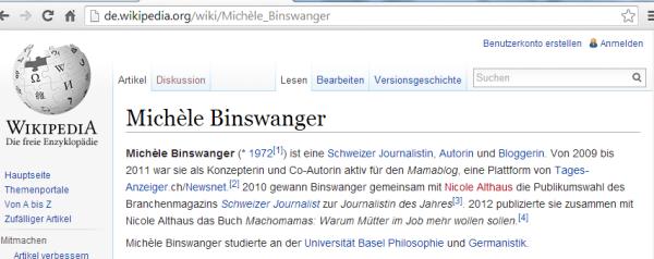 Tagi-Journalistin und Mama-Bloggerin Binswanger