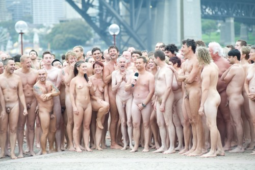 Kunstaktion von Spencer Tunick