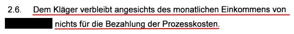 Bezirksgericht Uster stellt fest, dass ich die verlangten Prozesskostenvorschüsse nicht bezahlen kann