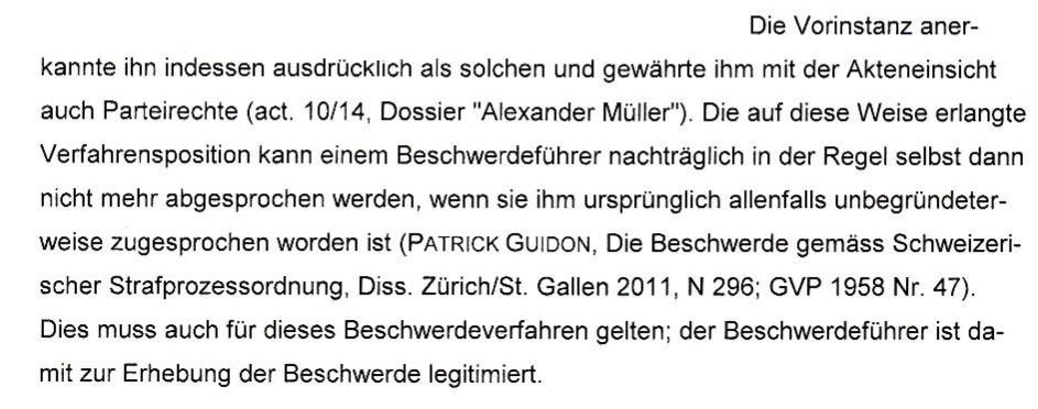 Die Anklagekammer des Kantons St. Gallen bestätigt meine Privatklägerschaft im Fall H (Vermieter mit keine CH)