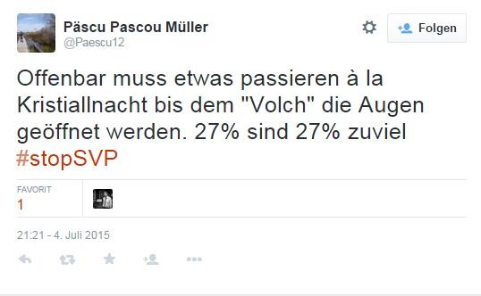 Kristallnacht-Tweet