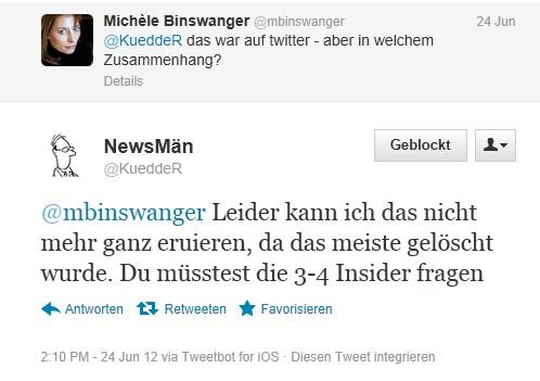 Binswanger fragt den anonymen Rufmörder nach dem Zusammenhang,.