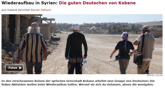 Spiegel, 30.06.2015: Kobane befindet sich wieder in kurdischer Hand und wird wieder aufgebaut