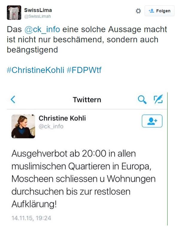 Anonymer und feiger Shitstormkacker attackiert Christine Kohli