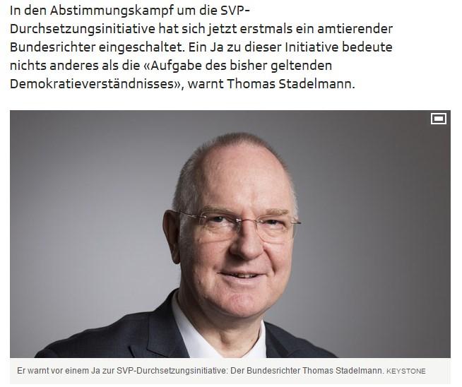 Bundesrichter Thomas Stadelmann