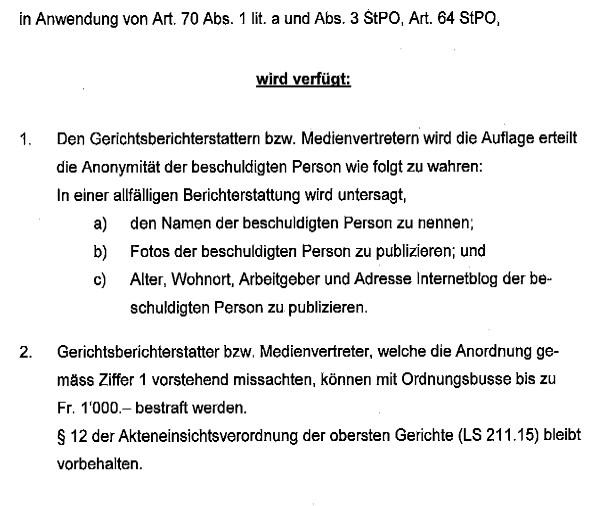 Verfügung Bezirksgericht Uster vom 16. Mai 2014