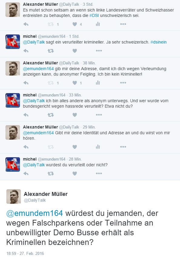 So setzen anonyme linke Feiglinge die Rassismuskeule gegen mich ein!