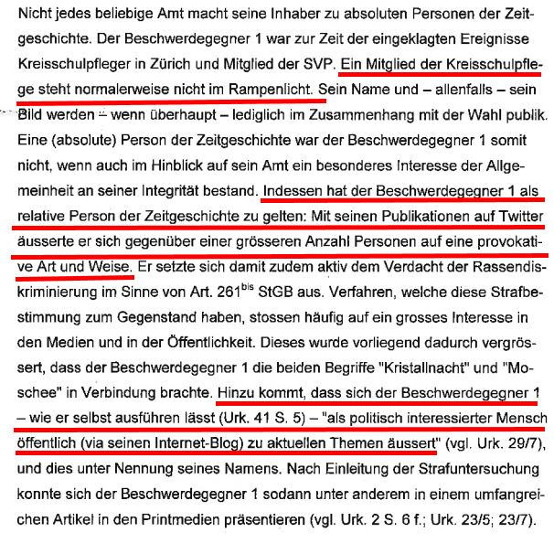 Aus dem Urteil des Zürcher Obergerichts vom 31.03.2015