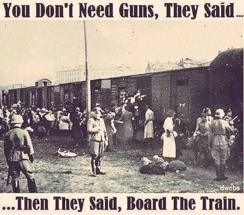 Unmittelbar nach der Reichtskristallnacht im November 1938 erliessen die NationalSOZIALISTEN eine Verordnung, die Juden jeglichen Waffenbesitz untersagte!