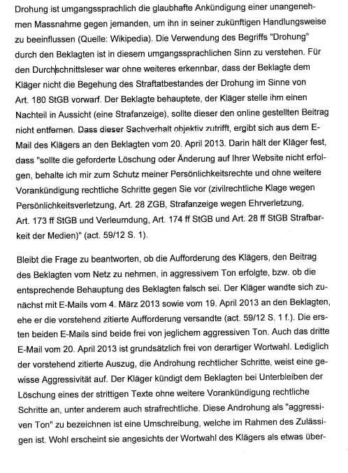 Urteil Bezirksgericht Uster