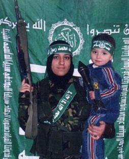 Extremisten Mama mit Kind